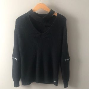 Guess Black Cut Out Sweater